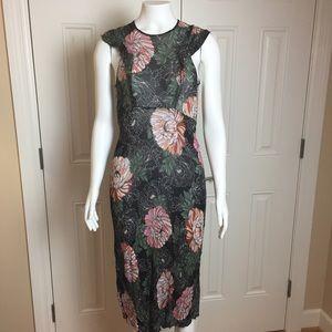 ZARA | Midi Dress | Floral Cap Sleeves | XS